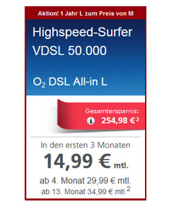 Angebot DSL All-in-L