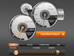 DSL Speedtest von Speed.io